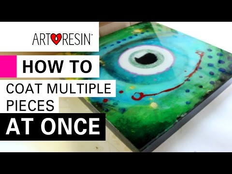 TIPS: Using ArtResin on a Bunch of Things in One Go!
