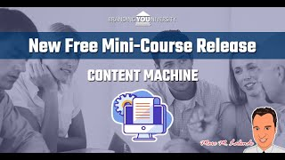 👨‍🏫 New Free Mini-Course Release (Content Machine)