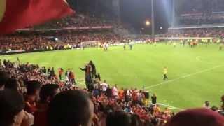 Lens Brest - Après-match agité - 9 mai 2014