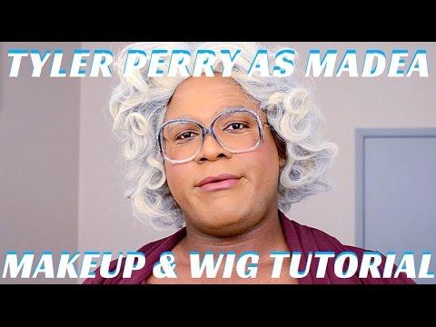 tyler perry as madea halloween makeup wig tutorial mathias4makeup youtube
