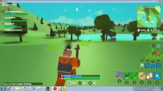 playing free insland with the TKS crazy live roblox