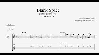 Blank Space TAB - electric guitar tab - PDF - Guitar Pro