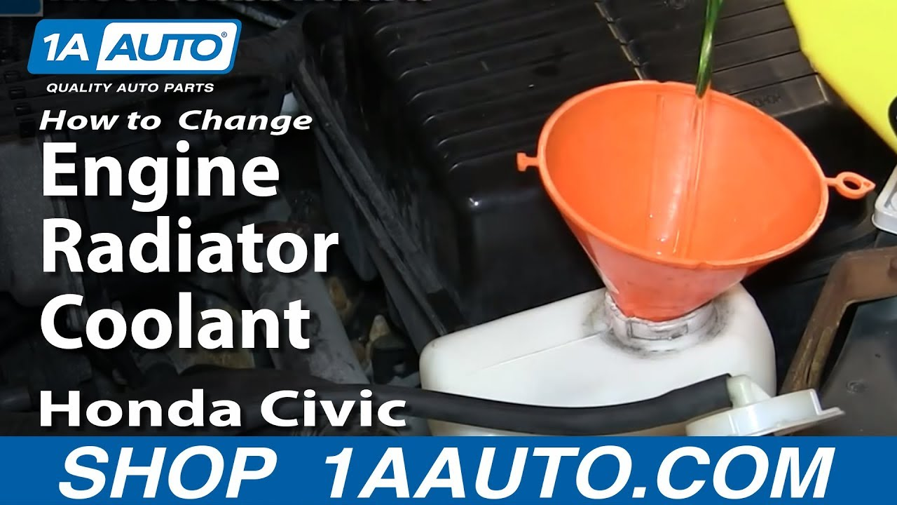 How To Change Service Engine Radiator Coolant 1996 00 Honda Civic Frozen
