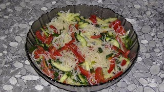 Фунчоза с овощами, рецепт Китайской, Корейской, Японской лапши