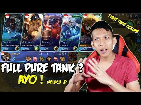 FULL PURE TANK ? AYO melucu ft Youtubers Manado - Mobile Legends Indonesia #25