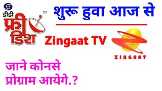 DD Free Dish Zingaat Tv Added On 16 August आज से शुरू हुवा Test Signal