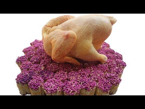 PHD | Nướng Gà Bằng 10000 Que Diêm | Grill Chicken