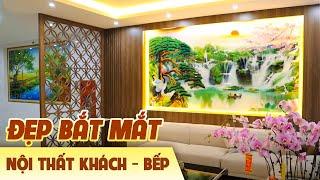 Mẫu Nội Thất Phòng Khách Và Bếp Thực Tế Đẹp Bắt Mắt Do KISATO Thiết Kế Thi Công Tại Bắc Ninh
