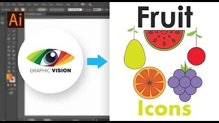 How to make Fruit Icons easily in illustrator