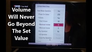 How To Limit The Maximum Volume On LG TV by Dominic Gichane