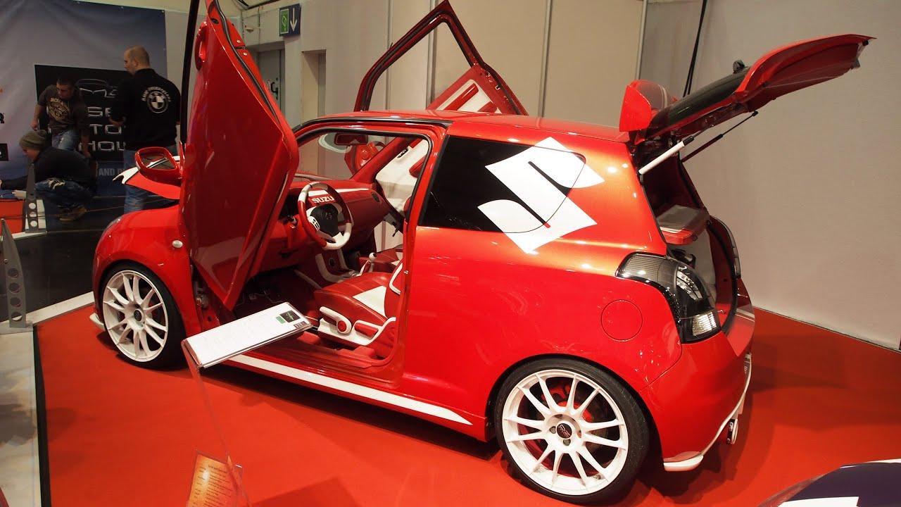 suzuki swift sport candy red tuning at essen motorshow. Black Bedroom Furniture Sets. Home Design Ideas