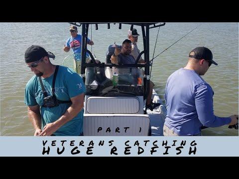 Veterans Catching Redfish Bay Fishing Rockport TX (Part 1)