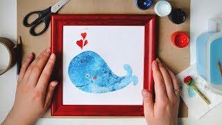 Как Нарисовать Кита Рыбку/ Лучшая Техника Для Малышей/ Урок Рисования Поэтапно