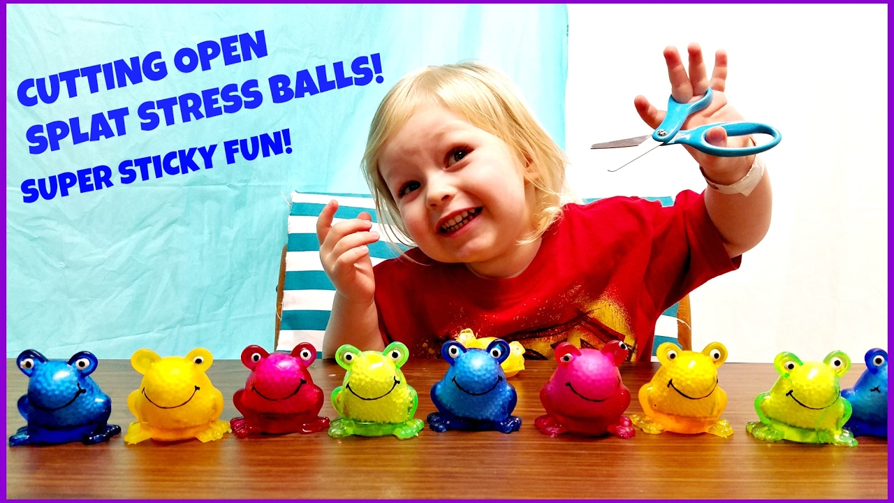 Squishy Toys With Stuff Inside : CUTTING OPEN STRESS BALLS SQUISHY TOYS - WHATS INSIDE FROGGY SPLAT BALLS KIDS JCS ADVENTURES ...