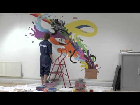 Inside 'The Box' | Creating the White Space studio mural