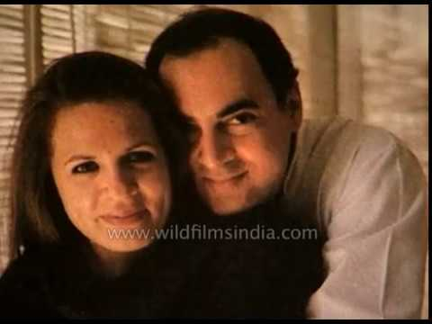 Rajiv Gandhi : heady early days with Sonia Maino and family life