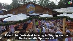 Feierlicher Volksfest Auszug in Töging am Inn