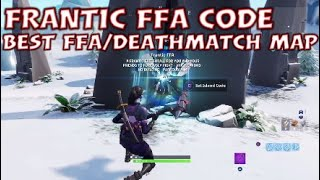BEST FORTNITE FFA MAP / Frantic FFA Code