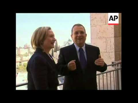 WRAP Clinton meets Netanyahu, Abbas. Fayyad, Hamas sot, demo