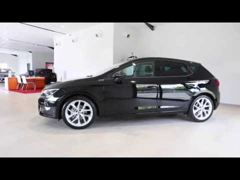 seat leon 1 4 tsi 150 ch start stop act fr dsg7 occasion noir minuit youtube. Black Bedroom Furniture Sets. Home Design Ideas