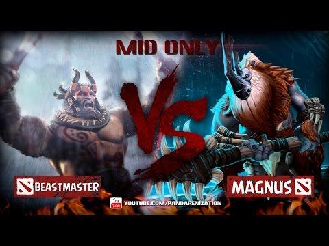 видео: beastmaster vs magnus [Битва героев мидонли dota2]