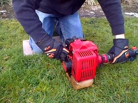 How to start a petrol strimmer