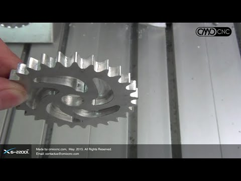 X6-2200L High Speed to Cutting a Aluminum Gear