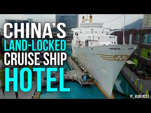 CHINA's LAND LOCKED CRUISE SHIP HOTEL