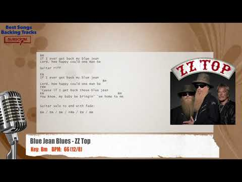 Blue Jean Blues - ZZ Top Vocal Backing Track with chords and lyrics