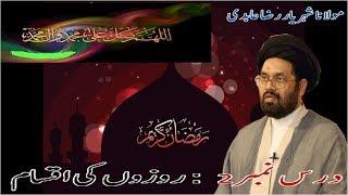Lecture 2 (Roza) Rozay Ki Iqsaam by Maulana Syed Shahryar Raza Abidi