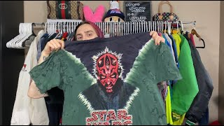 INSANE STAR WARS TEES!!! 🤯 TRIP TO THE THRIFT / BINS #2 🚀