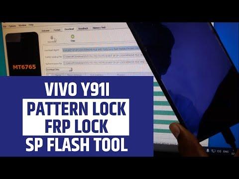 VIVO Y91i Pattern Lock & FRP Lock Remove Sp Flash Tool
