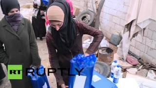 Syria: Aid arrives in al-Moadamyeh as ceasefire deadline approaches