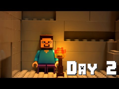 LEGO Minecraft Survival Day 2 (Stop Motion Animation)