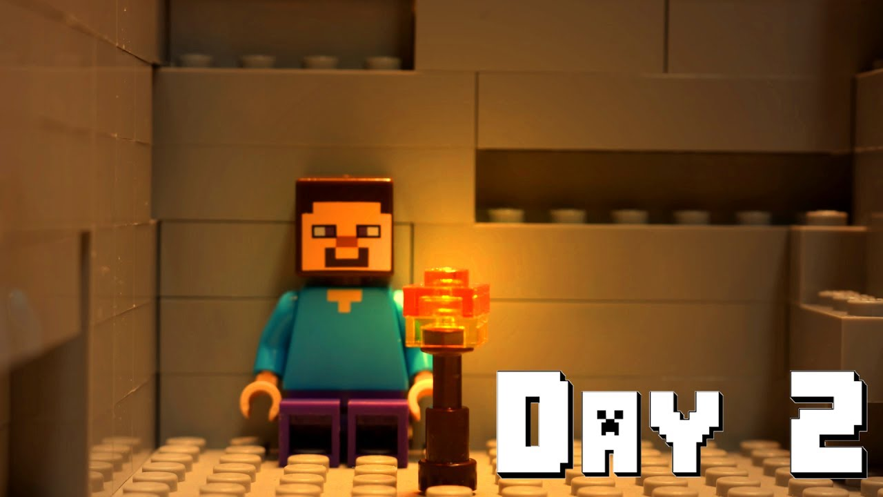 LEGO Minecraft Survival Day Stop Motion Animation YouTube - Minecraft die grobten hauser