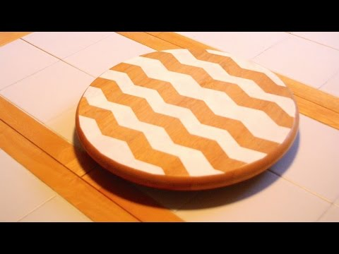 Make a Vintage Inspired Chevron Lazy Susan - DIY Home - Guidecentral