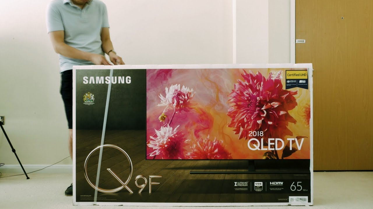 Samsung 2018 Q9f Q9fn Qled Tv Unboxing Picture Settings Youtube