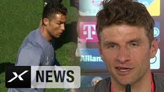 Thomas Müller: Cristiano Ronaldo und Lionel Messi