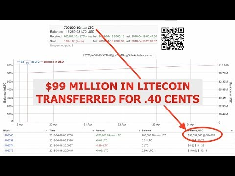 $99,000,000 Million in Litecoin, Transfered for .40 Cents, LTC Rocket Getting Ready to Launch