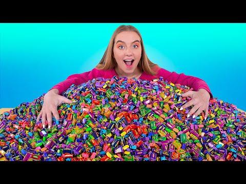 10.000 Baloncuklu Sakızı Karıştırıp Dev Bir Sakız Yapalım / Baloncuklu Sakız Yarışması