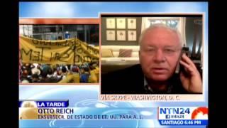 Otto Reich culpa a Nicolás Maduro por la violencia que se vive en las calles de Venezuela