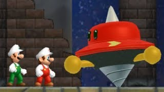 Newer Super Mario Bros Wii - All Castle Bosses (2 Players)