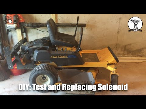diy: mower will not start - diagnose and replace faulty solenoid cub cadet  rzt