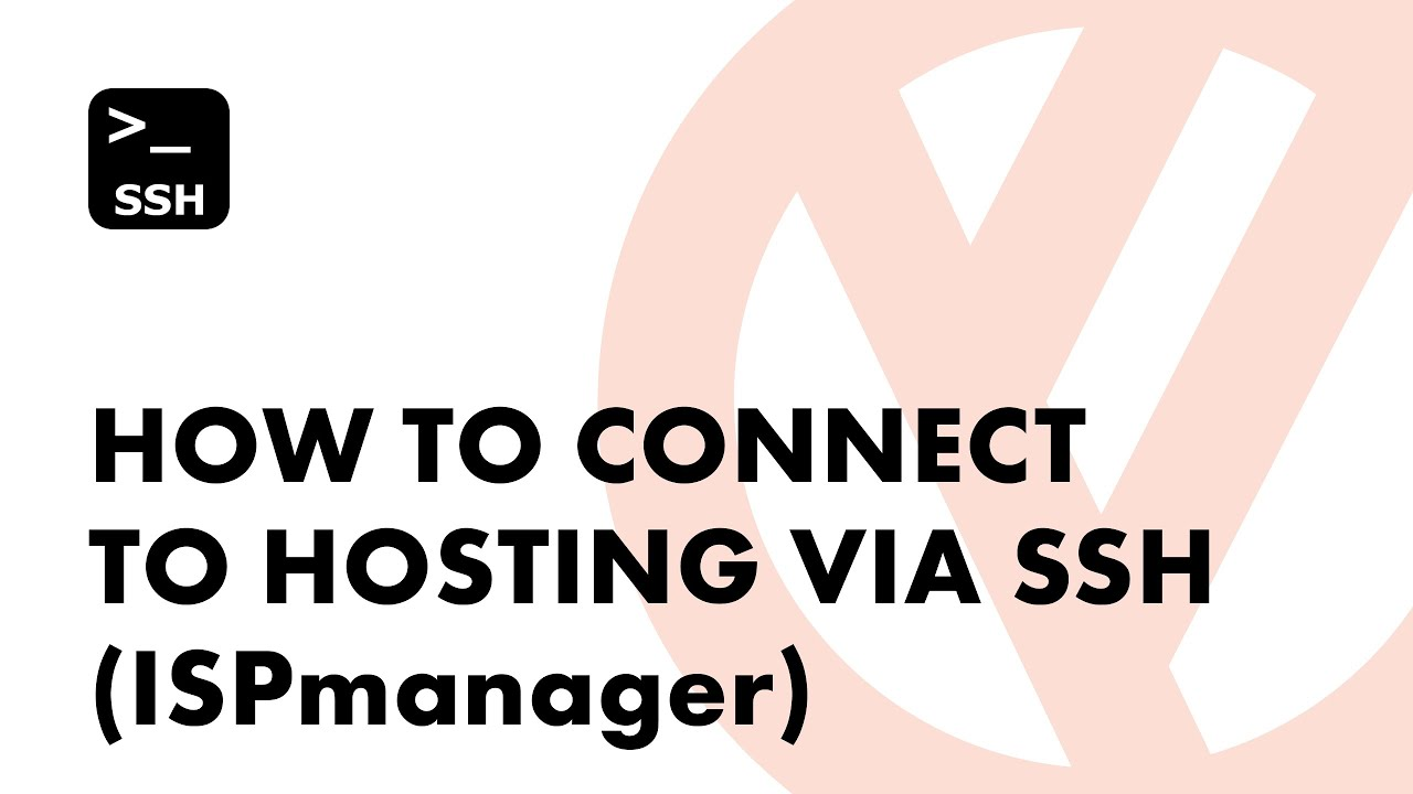 How to connect to hosting via SSH (ISPmanager, PuTTY)