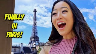 OUR FIRST TIME IN PARIS! Hotel room tour + this is what we did right when we got here