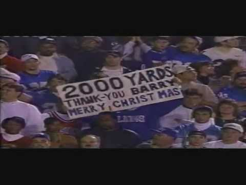 Breaking Record 2000+ yards *LIVE* (Barry Sanders Lions VS Jets)