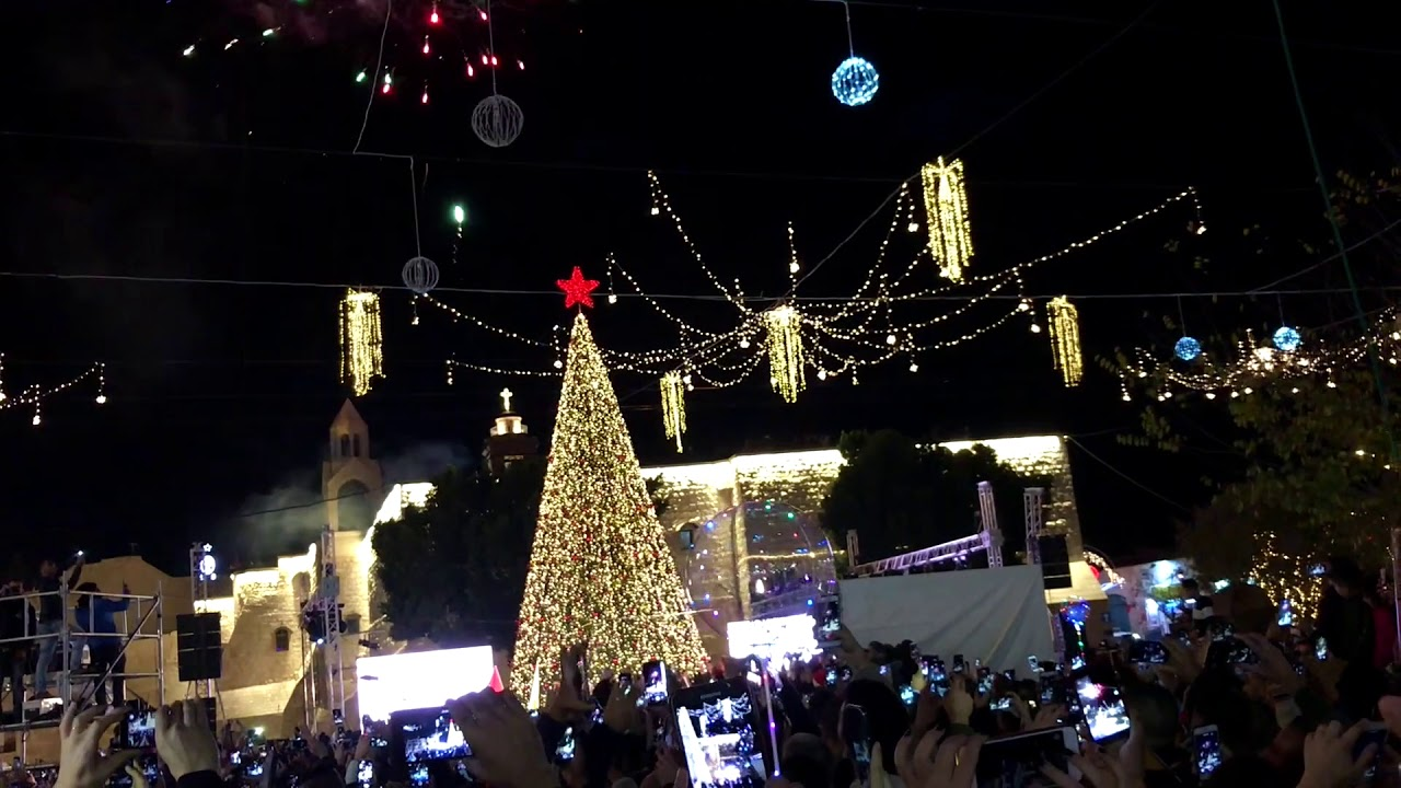 Christmas Tree Lighting In Bethlehem 2018 إضاءة شجرة عيد الميلاد في بيت لحم ٢٠١٨