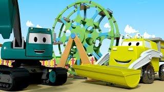 Đội xây dựng - Lắp Ráp Vòng Đu Quay - Thành phố xe 🚧 những bộ phim hoạt hình về xe tải