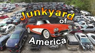 Авто свалки США рабочий Lexus  Ч.2   Junkyard cars