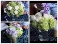 Tres arreglos florales para matrimonios o fiestas
